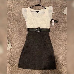 NWT Belted ruffle dress